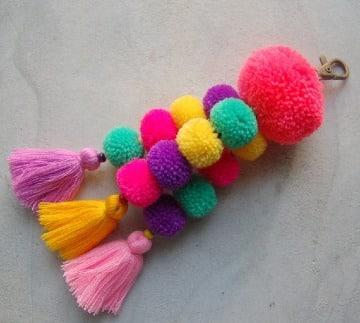 ideas de manualidades con algodon de colores