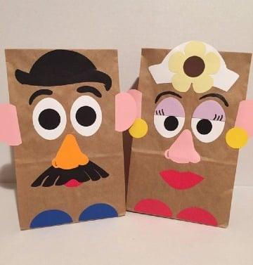 imagenes de manualidades con bolsas de papel