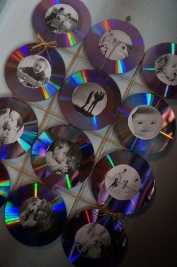 imagenes de manualidades con discos viejos