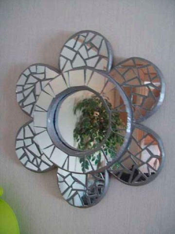 imagenes de manualidades con espejos rotos