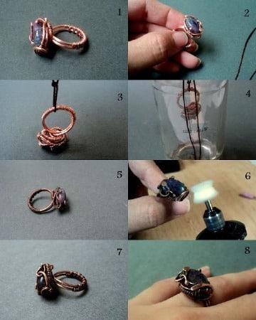 manualidades con alambre de cobre paso a paso