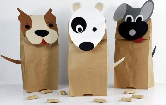 manualidades con bolsas de papel faciles