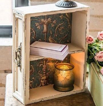 manualidades con cajas de madera antigua