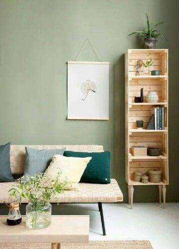muebles con cajones de madera para la sala