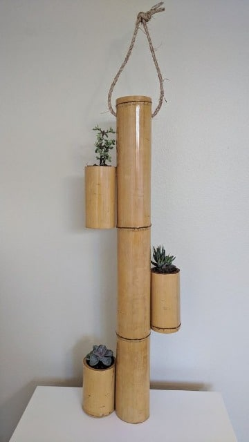 adornos hechos de bambu fáciles