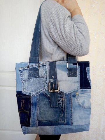 bolsos de jean reciclados paso a paso