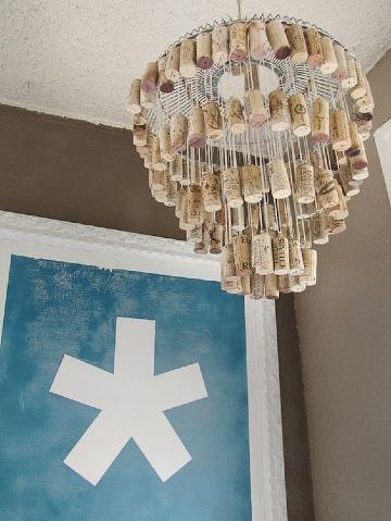 como hacer lamparas de techo recicladas