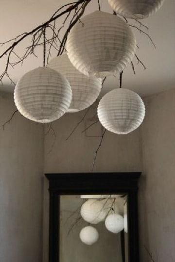 como hacer lamparas japonesas de papel