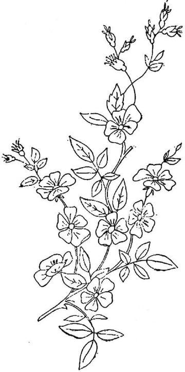 ejemplos de flores para bordar a mano