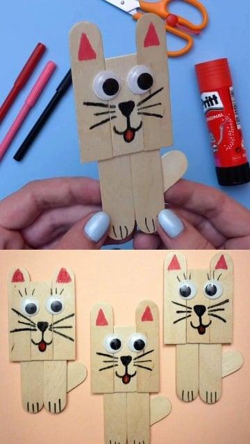 figuras con palitos de paleta para niños
