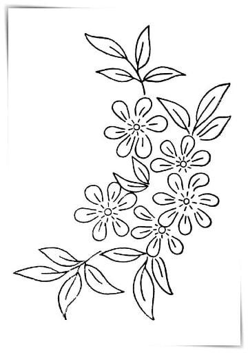 flores para bordar a mano gratis