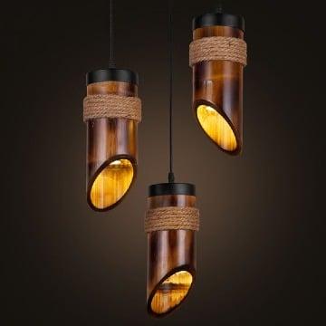 imagenes de adornos hechos de madera de bambú