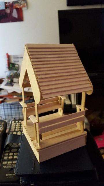 imagenes de casas de palitos de madera
