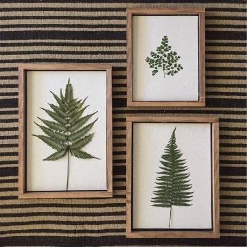 imagenes de cuadros hechos de hojas secas