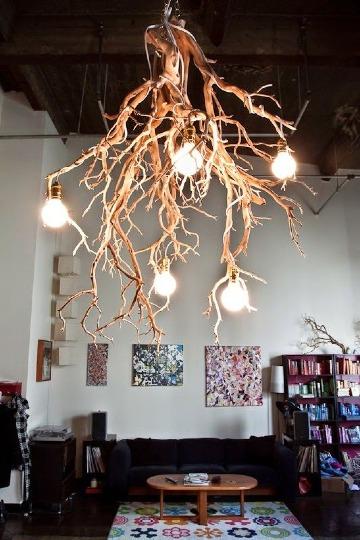 imagenes de lamparas de techo recicladas