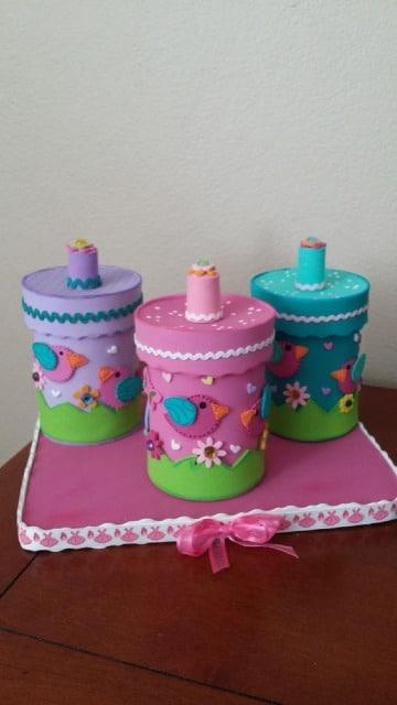 imagenes de latas decoradas con foami