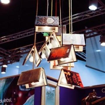 lamparas de techo recicladas y creativas
