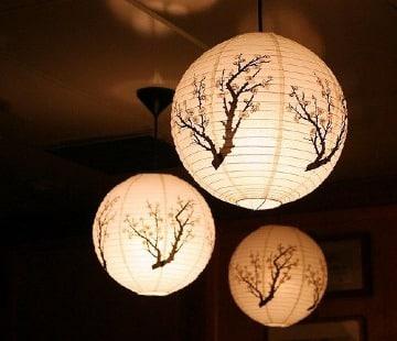 lamparas japonesas de papel paso a paso