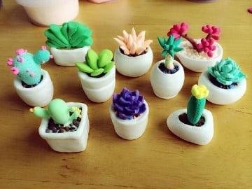 manualidades con ceramica fria para decoracion