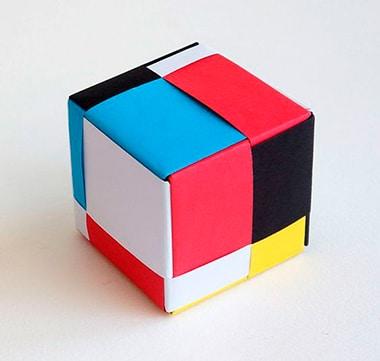 manualidades con figuras geometricas de papel