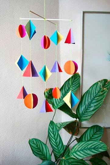 manualidades con figuras geometricas para decorar