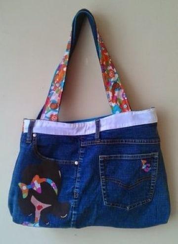modelos de bolsos de jean reciclados