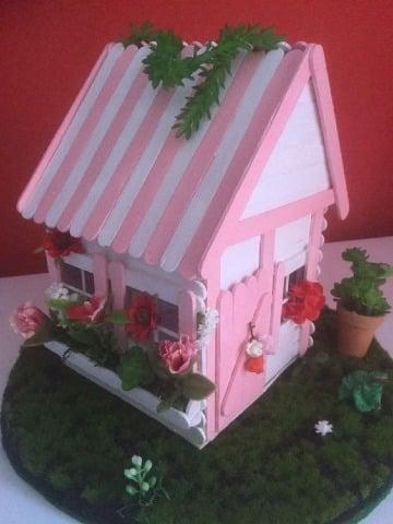modelos de casas de palitos de madera