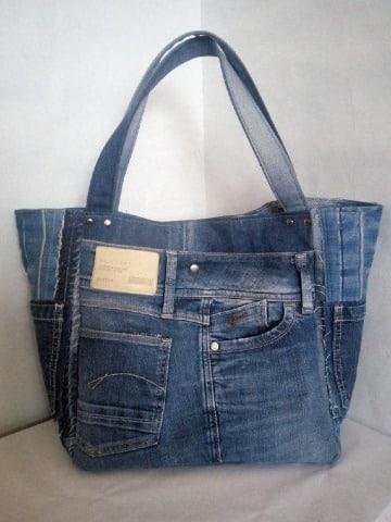 como hacer carteras de jeans reciclados