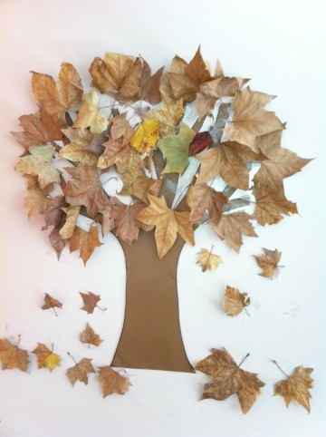 ideas para dibujos con hojas secas