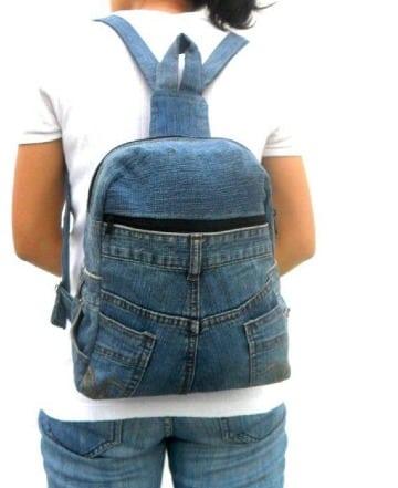 mochilas de jeans recicladas para mujer