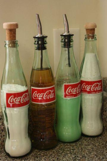 manualidades con botellas de vidrio de coca cola