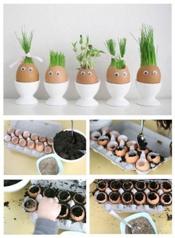 manualidades con cascara de huevo paso a paso