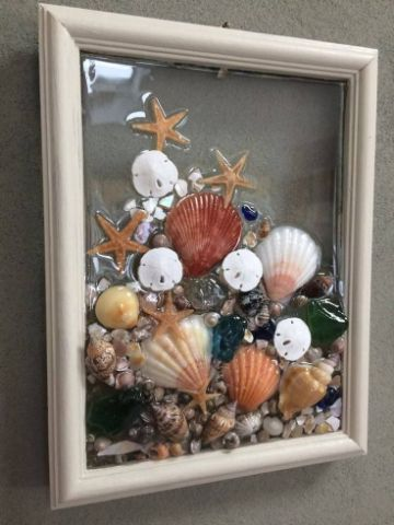 manualidades con conchas de mar grandes