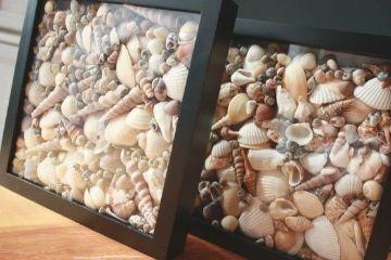 manualidades con conchas de mar pequeñas