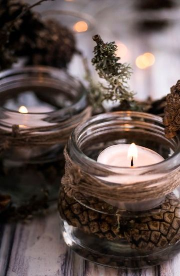 manualidades con frascos de gerber para navidad
