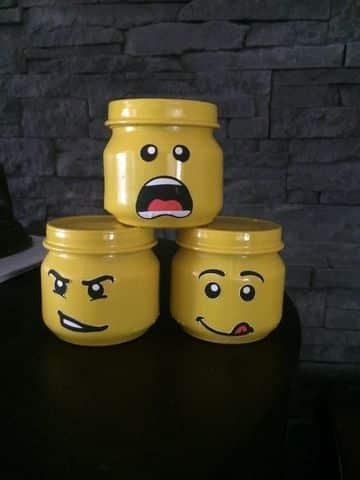 manualidades con frascos de gerber para niños