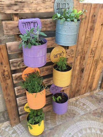 manualidades con latas de durazno para el jardin