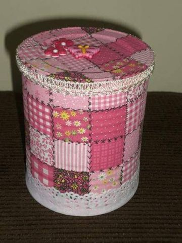 manualidades con latas de durazno para niños