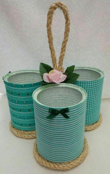 manualidades con latas de durazno y pintura