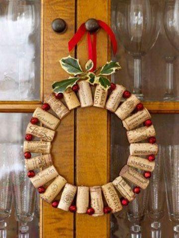 manualidades con tapones de corcho para fiestas navideñas