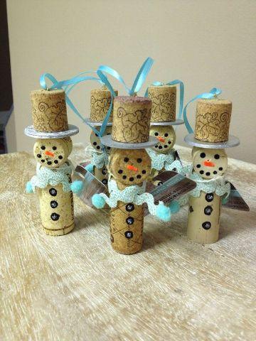 manualidades con tapones de corcho para navidad