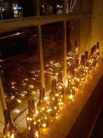 adornos para ventanas exteriores con luces