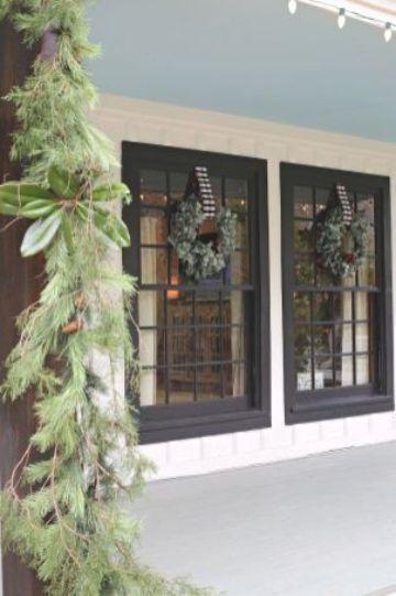adornos para ventanas exteriores navideños