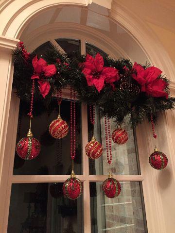 adornos para ventanas exteriores para navidad