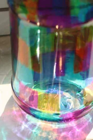manualidades con frascos de vidrios grandes