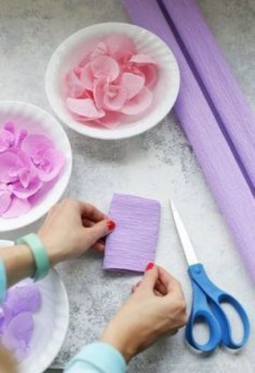 manualidades con papel crepe para niños