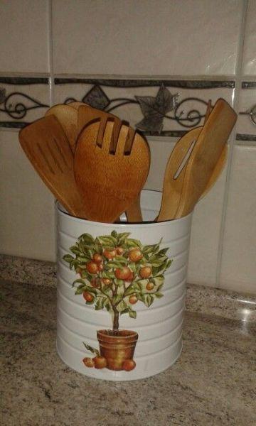 manualidades con tarros de leche para la cocina
