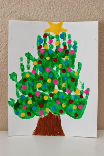 manualidades navideñas para niños con pintura