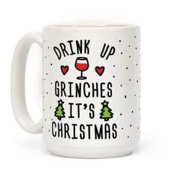 tazas decoradas para navidad en ingles