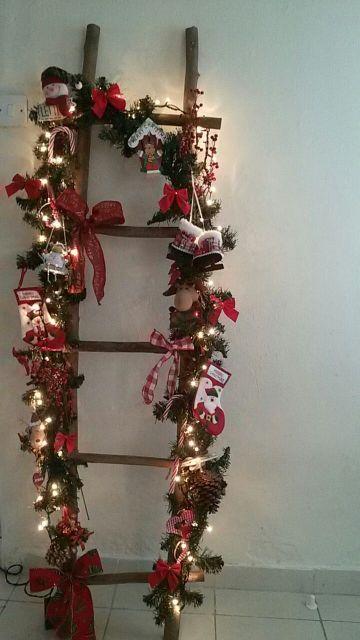 escaleras navideñas de madera faciles